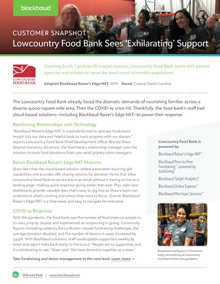 Customer Story: Lowcountry Food Bank