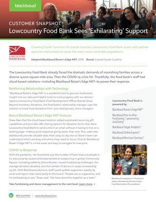 Customer Story: Lowcountry Food Bank