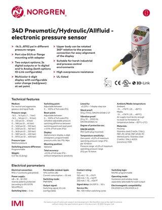 34D Electronic Pressure Sensor