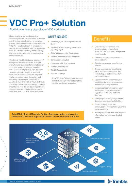VDC Pro+ Solution Datasheet