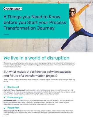 Checklist: 6 Things you Need to Know before you Start your Process Transformation Journey