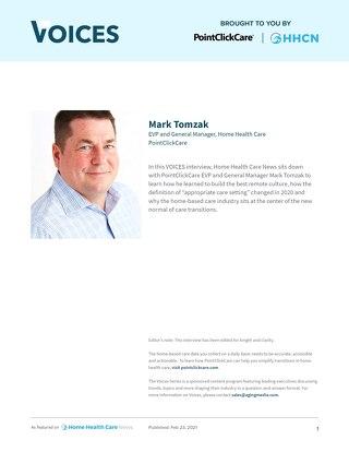HHCN Voices Article: Mark Tomzak