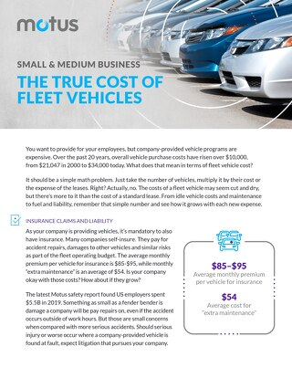 Small & Medium Business: The True Cost of Fleet Vehicles