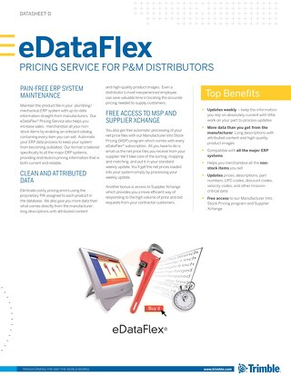 eDataFlex Datasheet for Plumbing and Mechanical Distributors