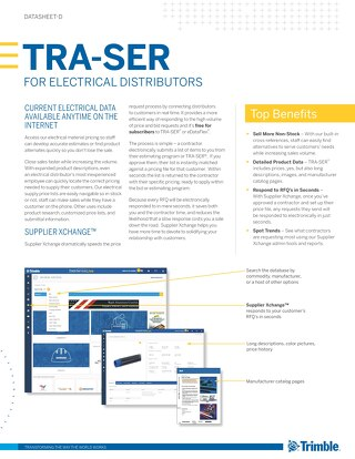 TRA-SER Datasheet for Electrical Distributors
