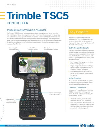 Trimble TSC5 Controller Datasheet - English