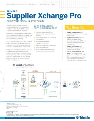 Construction Xchange Datasheet for Distributors