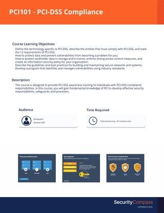 PCI101 - PCI-DSS Compliance