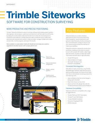 Trimble Siteworks Software Datasheet - English
