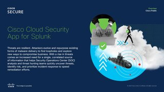 Cisco Cloud Security App for Splunk