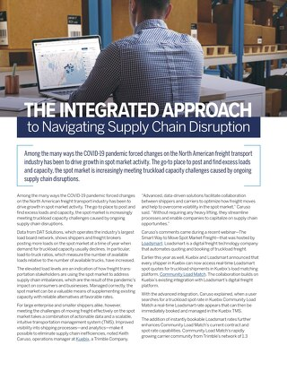 The Integrated Approach to Navigating Supply Chain Disruption