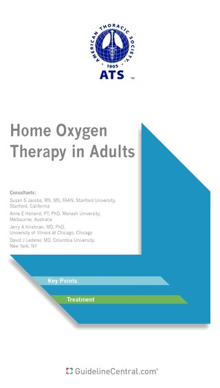Home Oxygen Therapy in Adults