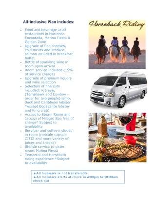 Hacienda Encantada - All Inclusive Premium Meal Plan Package