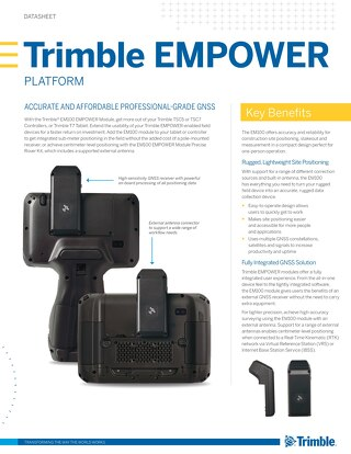 Trimble EMPOWER Platform Datasheet - English