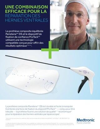 La prothèse composite équilibrée Parietene DS et le dispositif de fixation de confiance ProTack