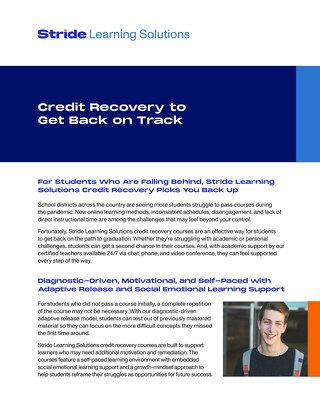 Credit Recovery to Get Back on Track