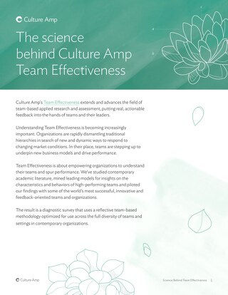Science Behind Team Effectiveness