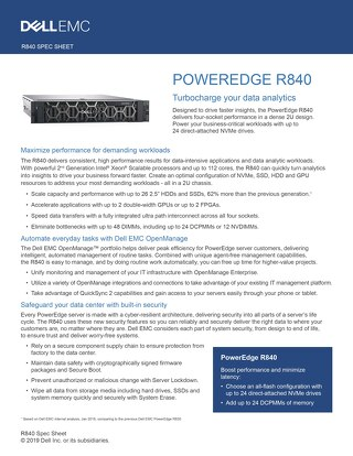 DellEMC - PowerEdge R840