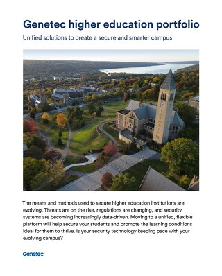 Higher education industry portfolio brochure