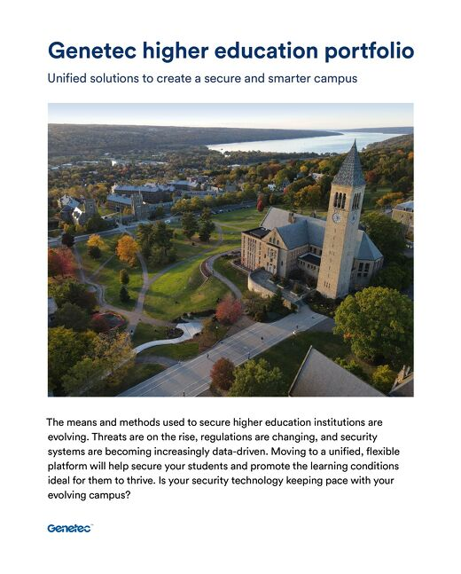Higher education industry portfolio brochure