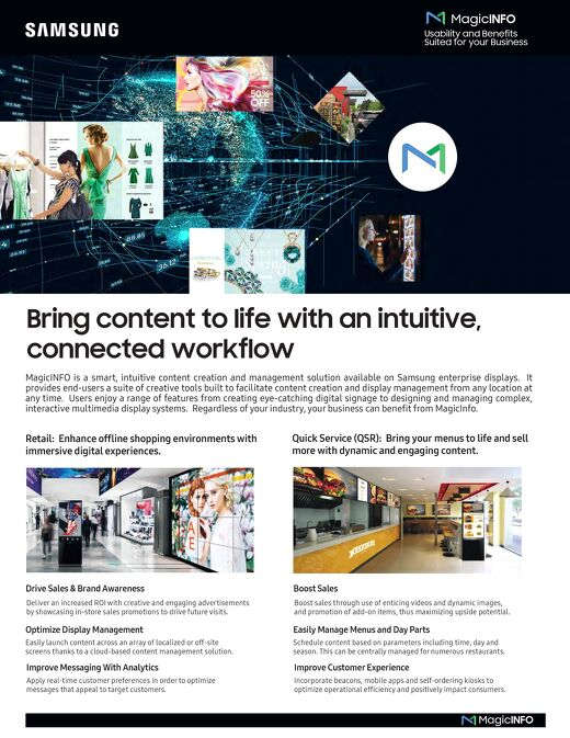 Bring content to life with MagicINFO