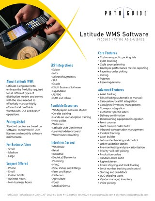 Latitude WMS Product Profile
