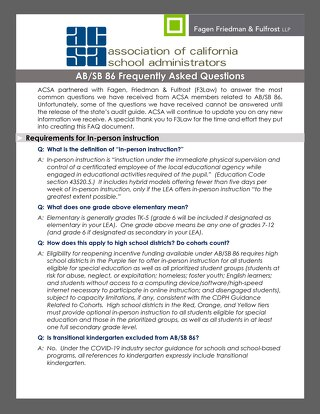 SB 86 Frequently Asked Questions