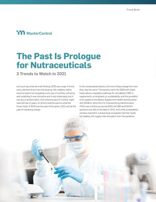 The Past Is Prologue for Nutraceuticals