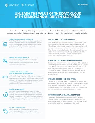 Unleash the Value of the Data Cloud with Search and AI-driven Analytics