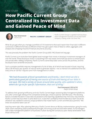 Pacific Current Group | Mercatus Case Study