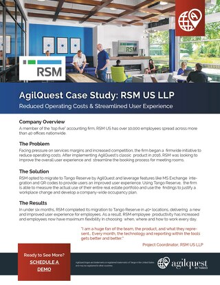 Case Study: RSM Streamlines Workplace Experience