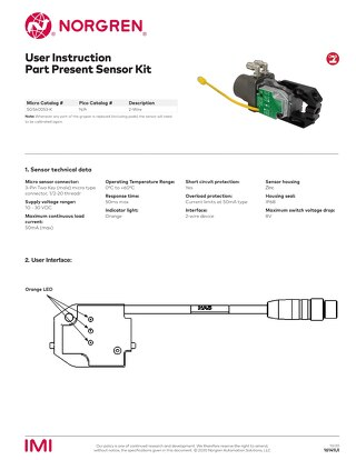 PGS Gripper 2-Wire Part Presence Sensor User Instructions