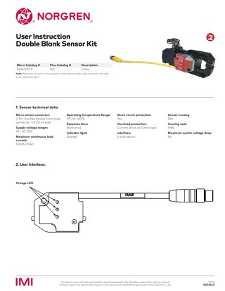 PGS Gripper 2-Wire Double Blank Sensor Kit User Instructions