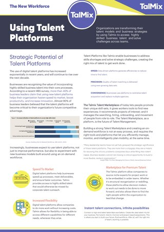Using Talent Platforms