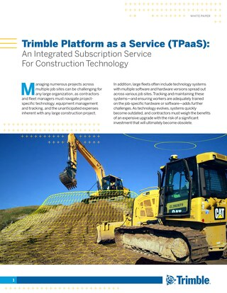 Trimble TPaaS White Paper - Construction Equipment