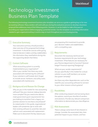 Technology Investment Business Case Template