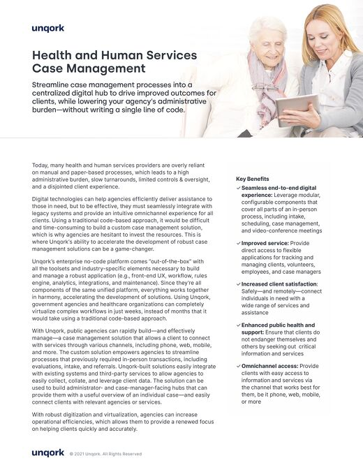 Solution Brief: Health and Human Services Case Management