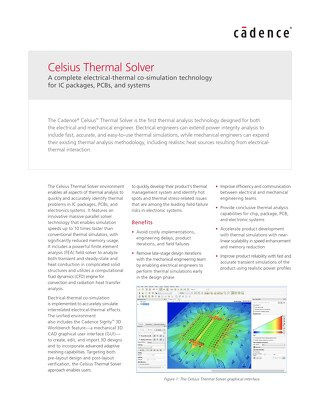 Celsius Thermal Solver Datasheet