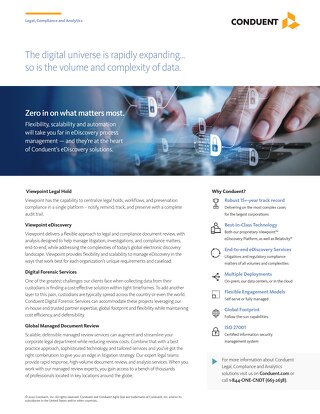 eDiscovery Solutions by Conduent