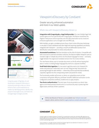 Viewpoint eDiscovery by Conduent
