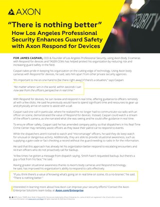 How Los Angeles Professional Security Enhances Guard Safety with Axon Respond for Devices