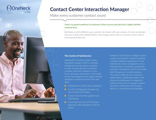 Contact Center Interaction Manager