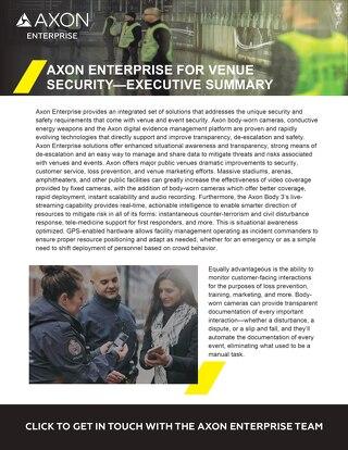 Axon Enterprise For Venue Security