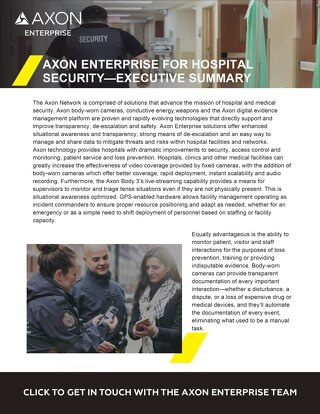 Axon Enterprise For Hospital Security
