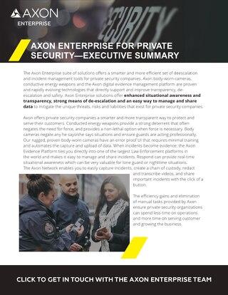 Axon Enterprise For Private Security