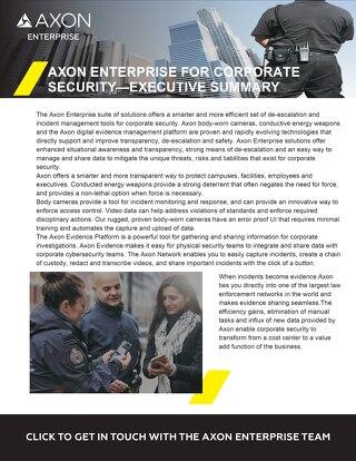 Axon Enterprise For Corporate Security