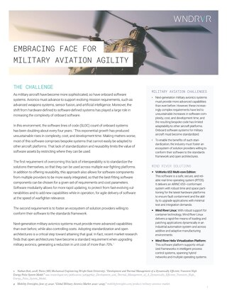 Embracing FACE for Military Aviation Agility