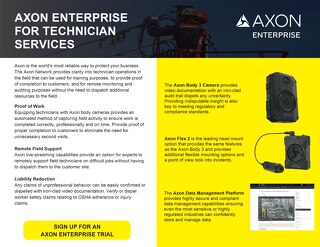 Axon Enterprise for Technician Services