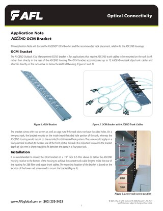 Application Note: ASCEND® OCM Bracket