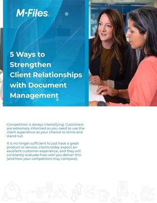 5 tapaa vahvistaa asiakassuhteita dokumenttienhallinnalla